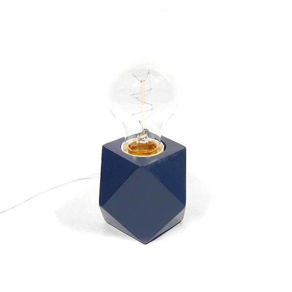 Origami Tischlampe Dunkelblau