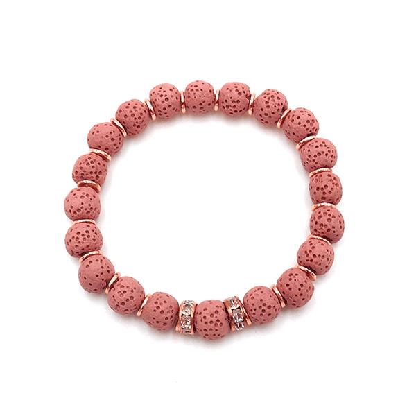 Rose Lava Armband